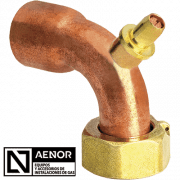 bend copper tap connector n aenor new