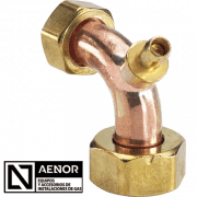 bend double copper tap connector n aenor new
