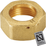brass nut with seal hole