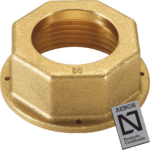 brass nut with seal hole for gas meter
