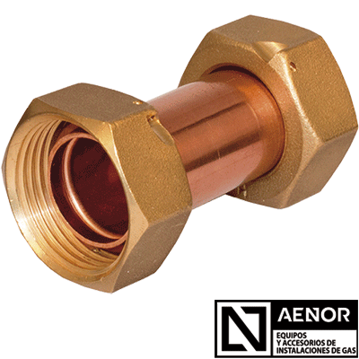 double copper tap connector n aenor new