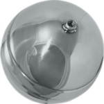 stainless steel ball aisi 304 for float with threaded rod