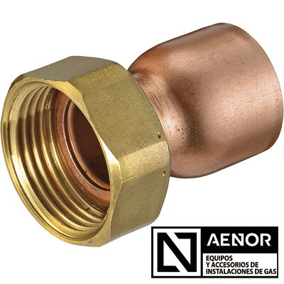 straight copper tap connector n aenor new