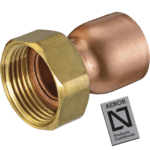 straight copper tap connector with seal and joint plat aenor