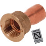 straight copper tap connector with seal flat joint lpg counter nut aenor